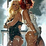 Britney Spears and Rihanna performed together in May 2011.