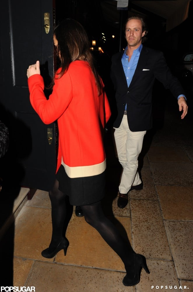 Pippa Middleton was joined by a male friend.