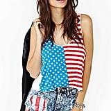 Nasty Gal American Flag Crop Top Tank