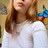 Rowan Blanchard's Long Blond Hair With Blunt Bangs