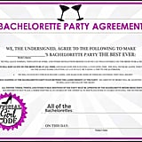Bachelorette Party Agreement