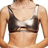 Topshop Metallic Cutout Bikini