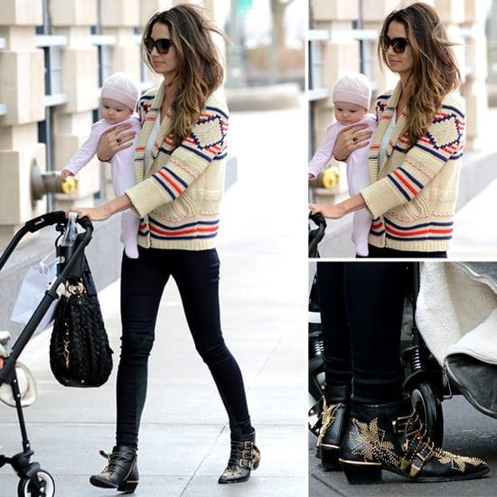 Lily Aldridge Wearing Etoile Isabel Marant Sweater in NYC