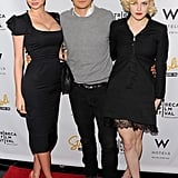 Miranda Kerr, Orlando Bloom, and Riley Keough were arm in arm at the Tribeca Film Festival afterparty for The Good Doctor in April 2011.
