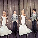 Barbie and Ken Get Married! French photographer Béatrice de Guigné had the fun and hilarious idea to shoot Barbie and Ken's wedding in the same way she'd shoot a wedding between two people. So the same setups we've seen on our favorite wedding blogs are re-created here in plastic. Way to go Barbie (and Béatrice)! Now let's look at the happy couple's wedding album. Photo by BdG Photography via Rock n Roll Bride