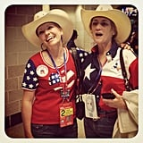 The Republican women at the convention went all out with their patriotic outfits.