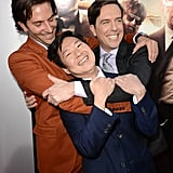A few of the stars of Hangover Part 3 — Bradley Cooper, Ken Jeong and Ed Helms — hugged it out at the LA premiere of the film on May 20.