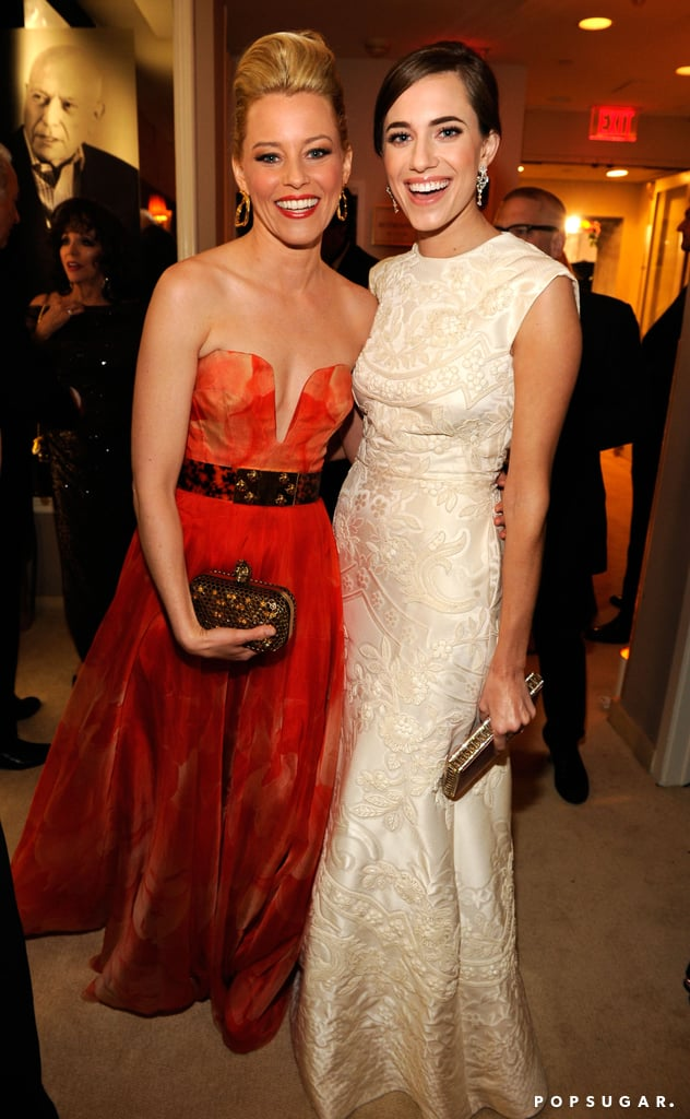 Elizabeth Banks and Allison Williams glowed at the Vanity Fair party after Sunday's Oscars.