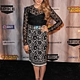 Dolce & Gabbana's lace cocktail dress was a feminine turn for Chloë at a Spike TV event.