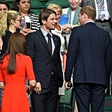 At the 2015 Wimbledon Tennis Championship, the royal couple met Josh Hartnett and his pregnant girlfriend, Tamsin Egerton.