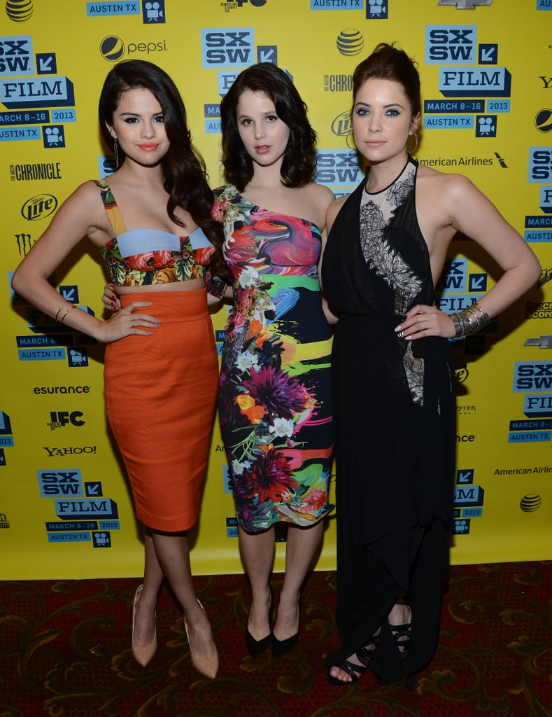 Selena Gomez, Rachel Korine, and Ashley Benson posed together on the red carpet.