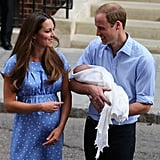 Prince William and Kate Middleton brought the royal baby home after leaving the hospital in London.