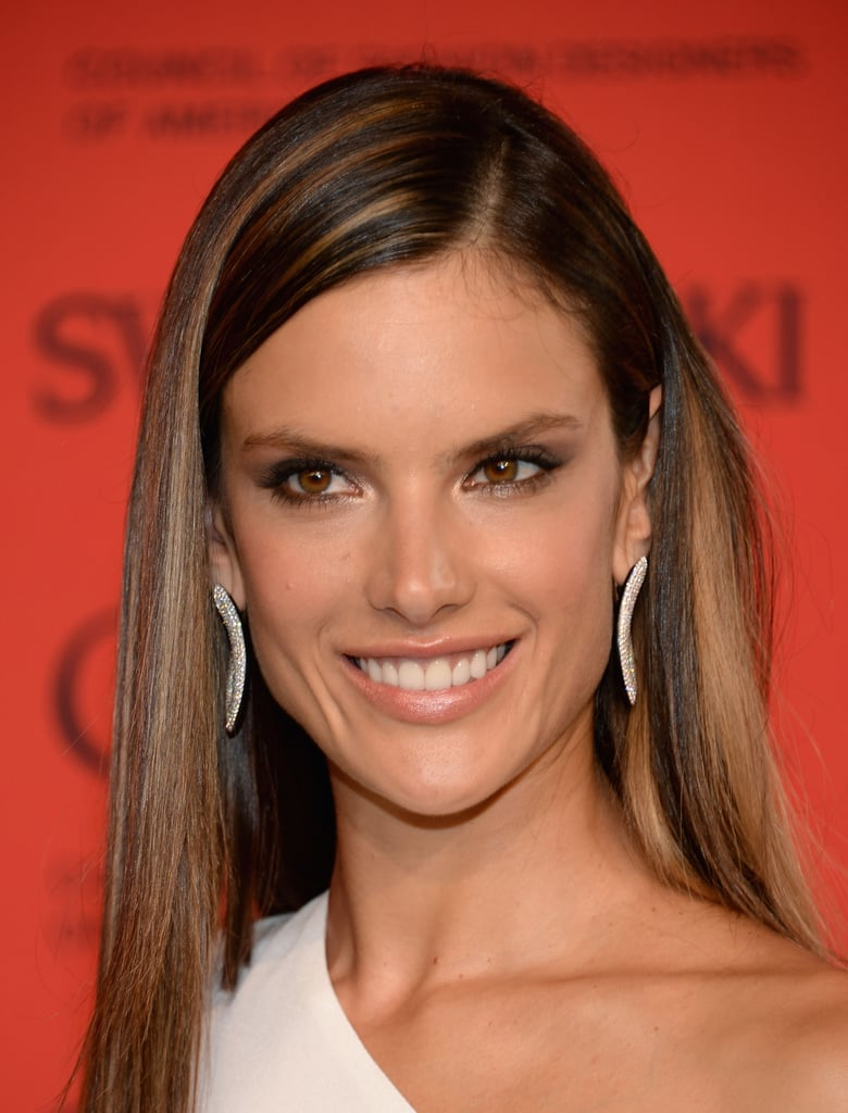 Alessandra ambrosio showed off pretty caramel toned highlights alessandra ambrosio showed off pretty caramel toned highlights and a warm flattering makeup pmusecretfo Gallery