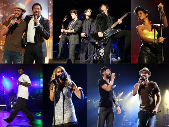 Photos of Justin Timberlake, Leona Lewis, 50 Cent, Rihanna at Justin Timberlake Shriners Hospital Benefit Concert