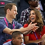 Prince William and Kate Middleton watched track cycling.