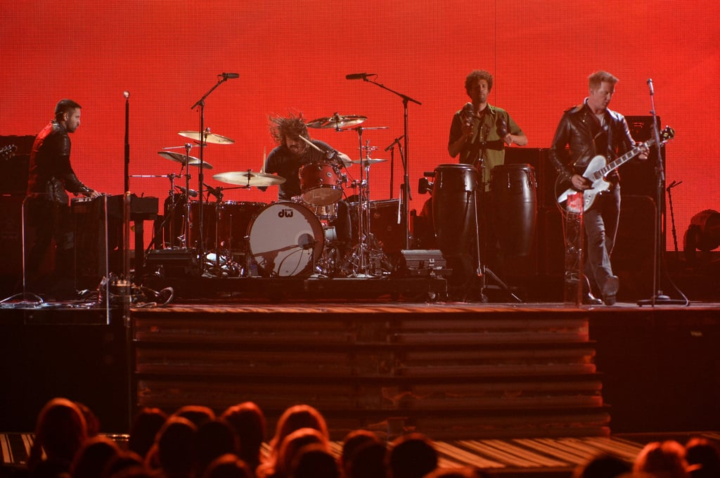 The closing medley featured Dave Grohl, Josh Homme, Trent Reznor, and Lindsey Buckingham.