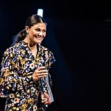 Princess Victoria Wearing Floral Gestuz Dress