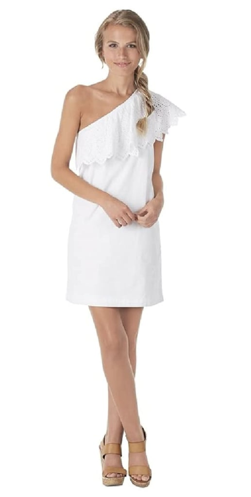 Mud Pie Poplin One-Shoulder Dress