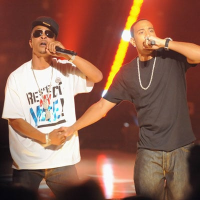 TI and Ludacris at the 2008 BET Awards