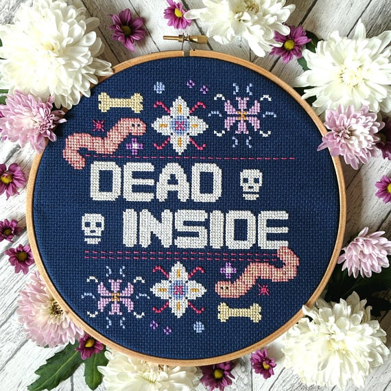 These Cross-Stitch Hoops Perfectly Capture Your Most Subversive Salty Thoughts