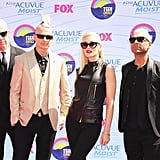 Tom Dumont, Adrian Young, Gwen Stefani, and Tony Kanal went to the Teen Choice Awards.