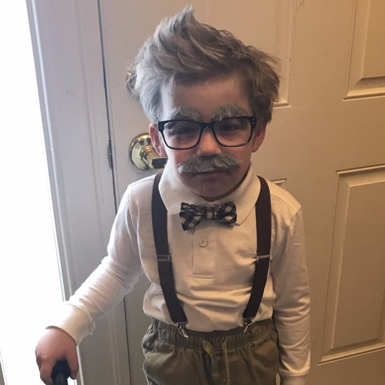Little Boy Dresses as Old Man For 100th Day of School