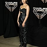 Naomi Scott at a Charlie's Angels Photocall