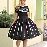 The Force is strong with this adorable Lightsaber Skirt ($75) that shows each color.