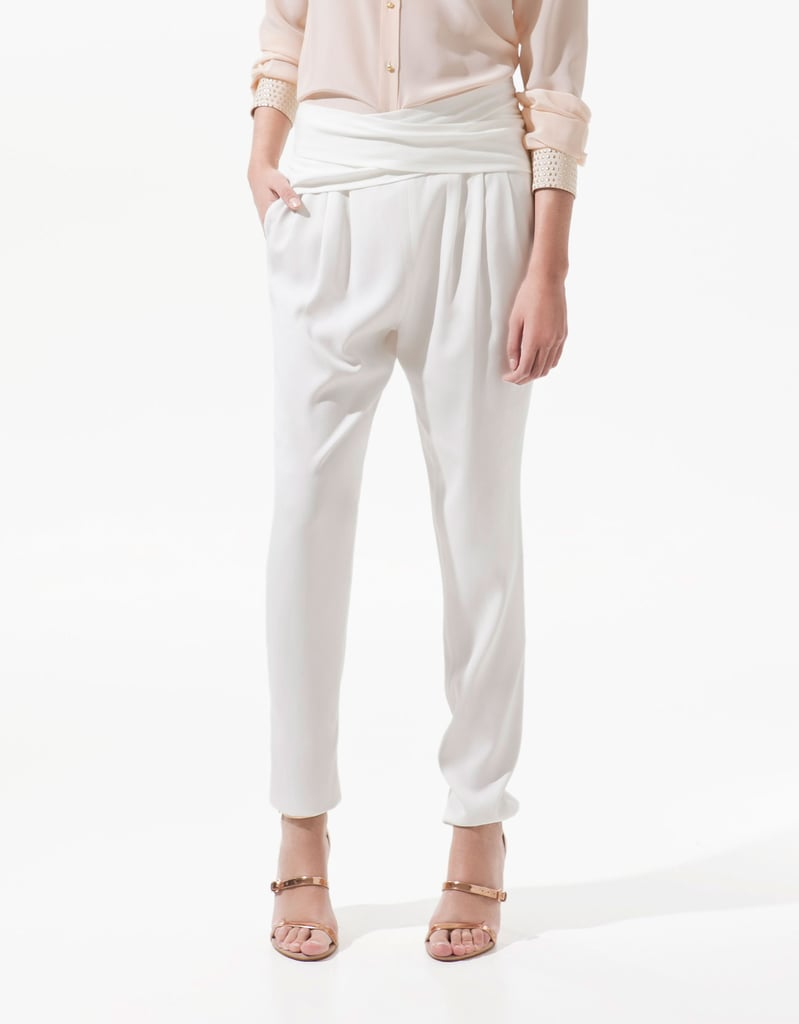 """These silky white trousers are a chic and lightweight option for those days when I don't feel like showing my legs. I'd pair them with a draped tank and sleek sandals for a day at the office."" — Chi Diem Chau, associate editor