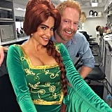 Jesse Tyler Ferguson was joined by Sofia Vergara when he gave his fans a sneak peek of this year's Modern Family Halloween episode.