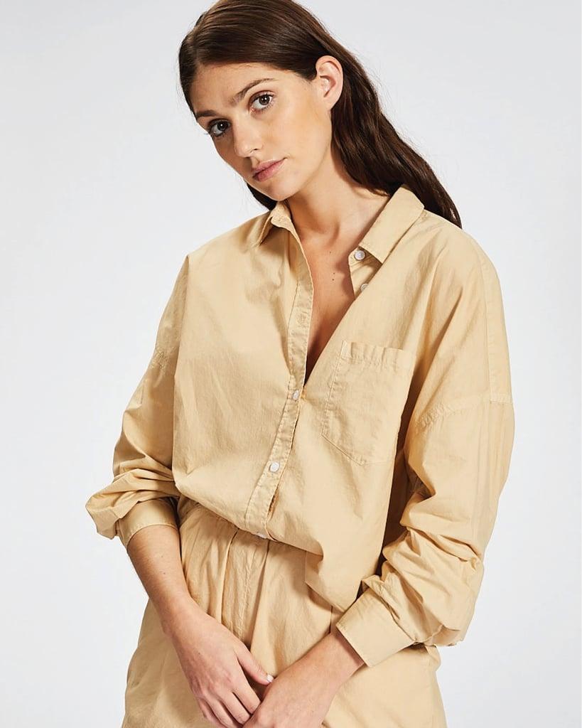 LMND The Chiara Shirt Caramel ($115)
