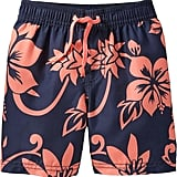 Hawaiian getaway or not, Old Navy's Hibiscus print swim trunks ($13) are sure to put him in a tropical state of mind.
