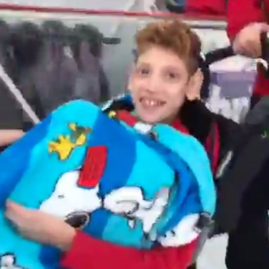 Boy With Disabilities Gets to Ice Skate in His Stroller