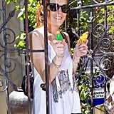 Photos of Lindsay Lohan With Water guns
