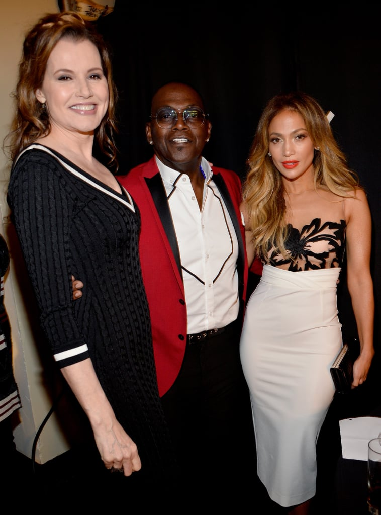 Geena Davis, Randy Jackson and Jennifer Lopez