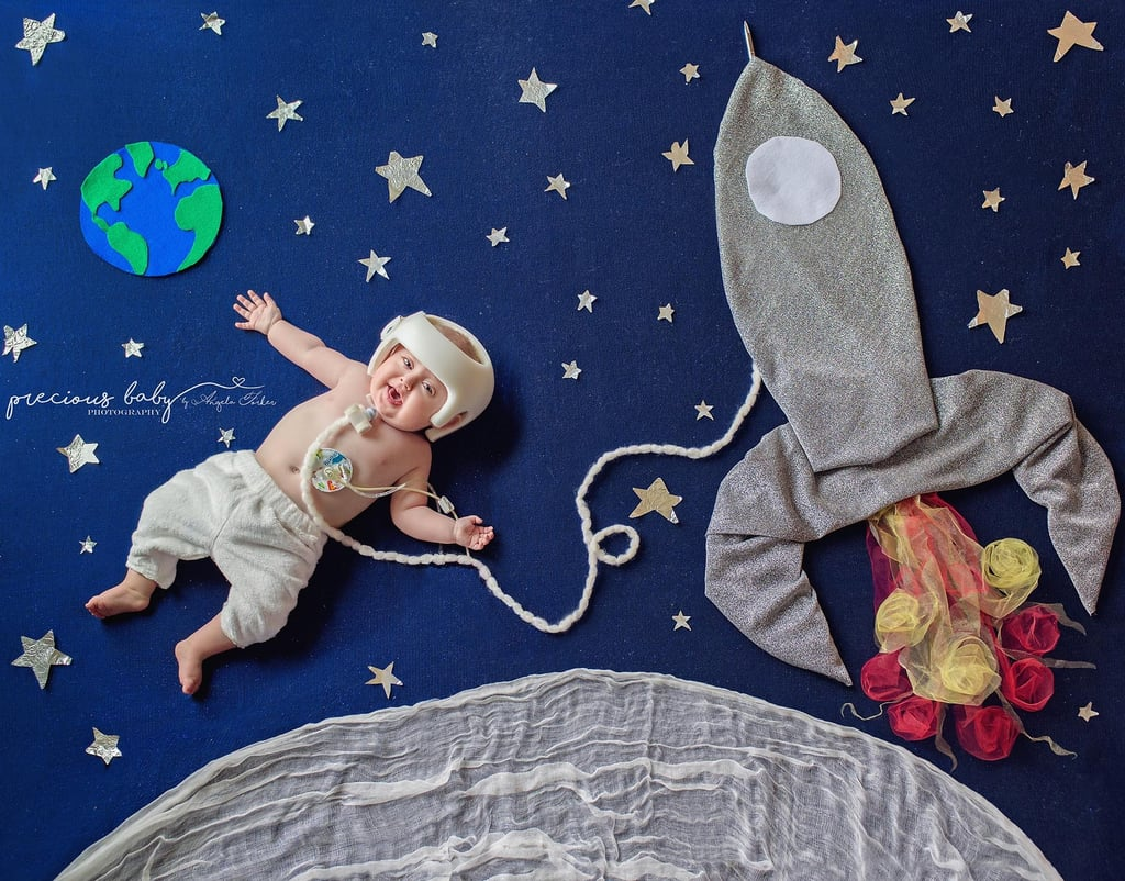 Photos of Babies With Special Needs on Floor Backdrops