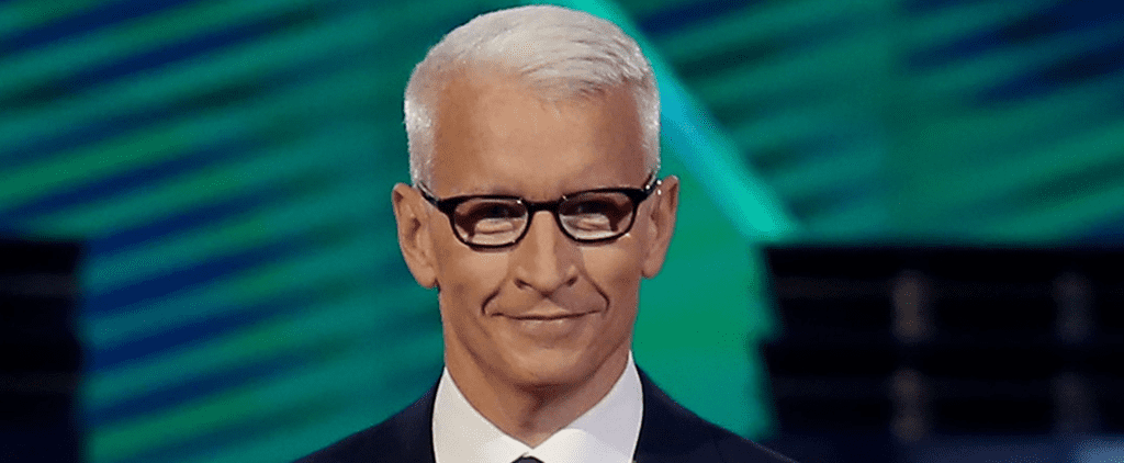 Twitter Got Majorly Partisan Over Anderson Cooper's New Glasses at the Democratic Debate