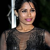 Freida Pinto looked stunning at the opening dinner at the Cannes Film Festival.
