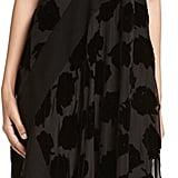 DKNY Sleeveless Velvet Leaf Midi Dress