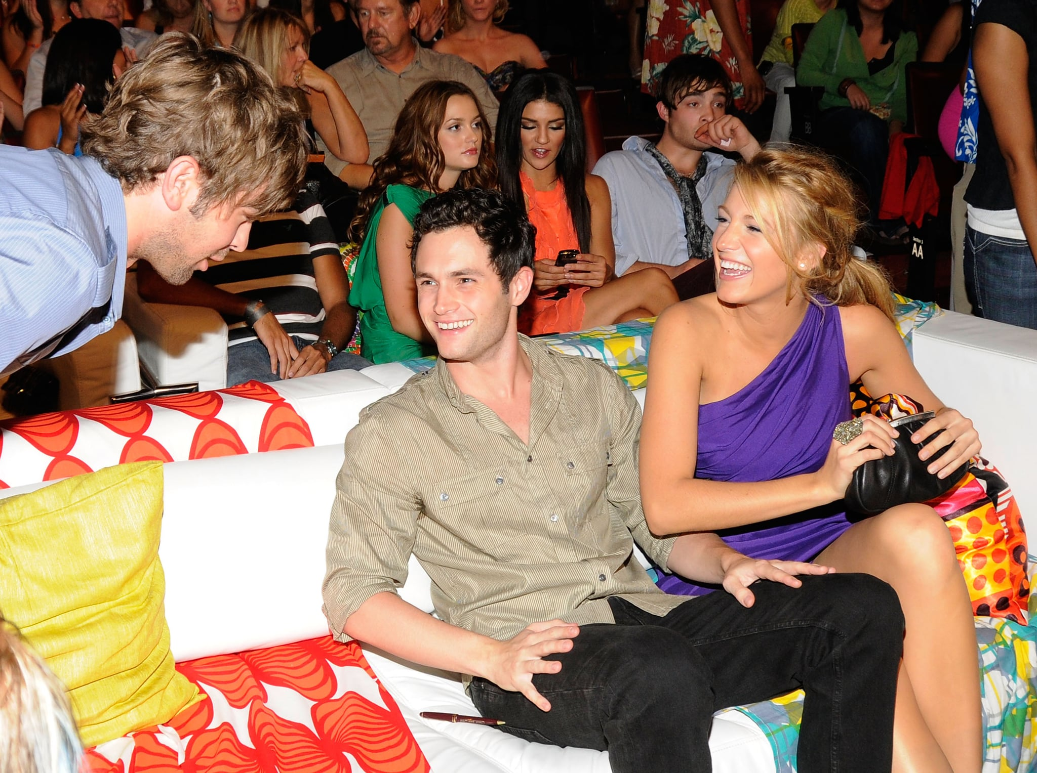 Penn Badgley and Blake Lively cuddled close at the 2008 Teen Choice Awards in LA.