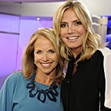 Heidi Klum dropped by Katie Couric's new show, Katie, in NYC. Source: Twitter user heidiklum