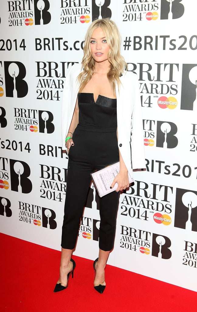 Laura Whitmore at the Brit Award Nominations.