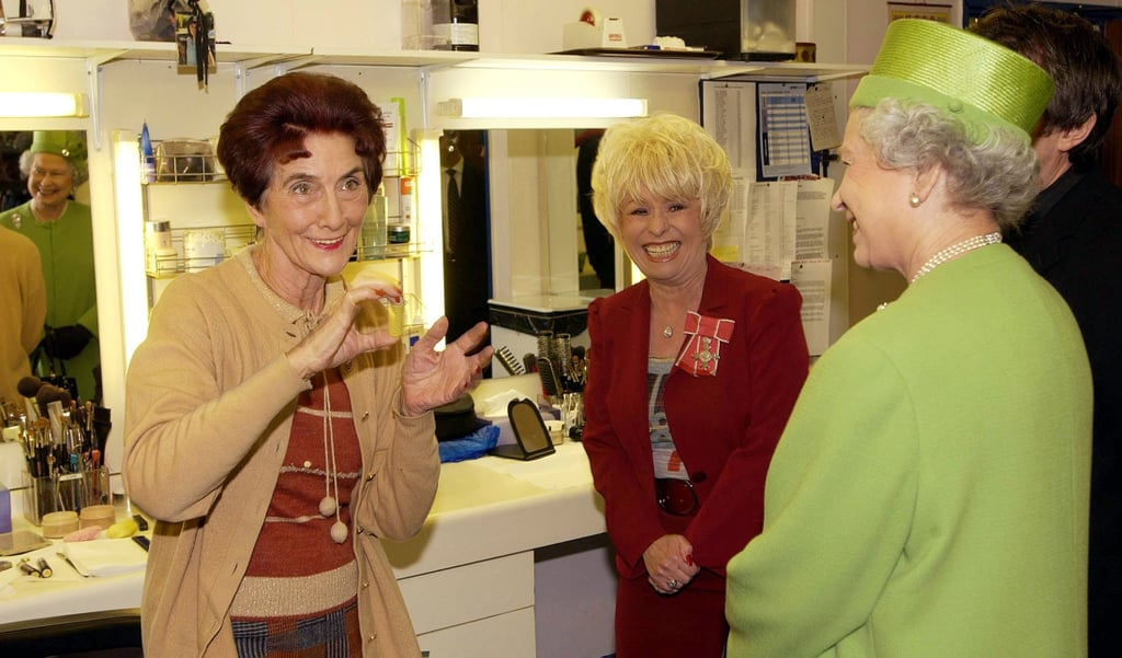 June Brown, Barbara Windsor, and the Queen