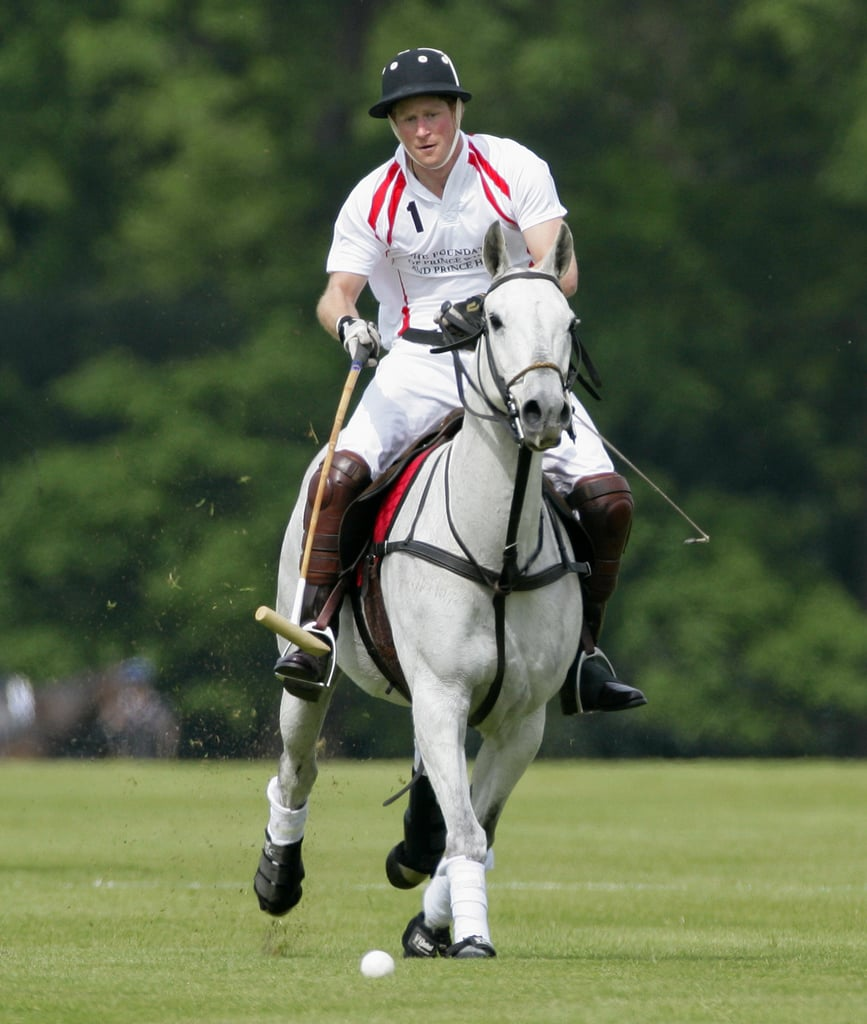 Handsome Prince Harry Gets Back Up on His Horse