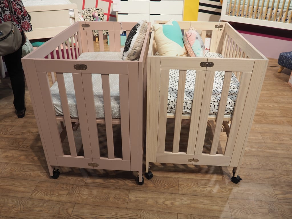 unique dream me folding gold bag with crib alma mini bloom storage cribs on mattress portable