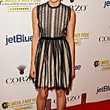 Aubrey Plaza at the second annual Art Mere/Art Pere Night at Smashbox West Hollywood.
