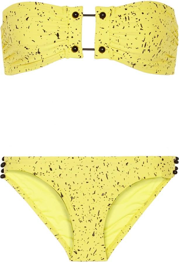 Proenza Schouler Printed Bandeau Bikini ($450)