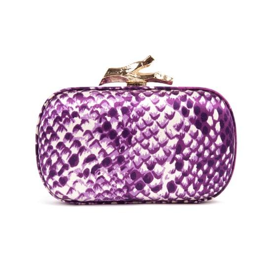 Diane von Furstenberg Thai Purple Skin Clutch