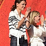 Katie Holmes hit the stage during the event.