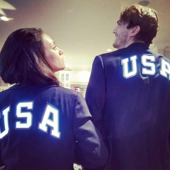 Ashton Kutcher and Mila Kunis Team USA Photo 2016